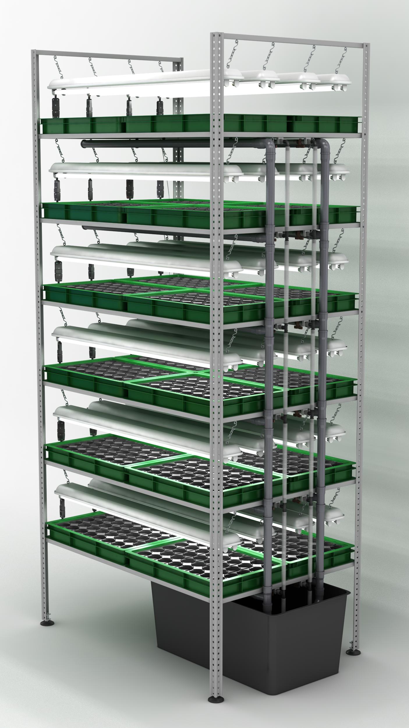 Промышленная гидропонная установка для выращивания витграсса 94